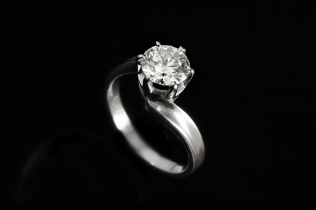 Diamond with black background photo