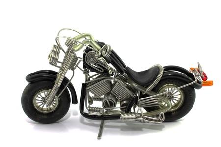 handlebars: toy motorcycle.