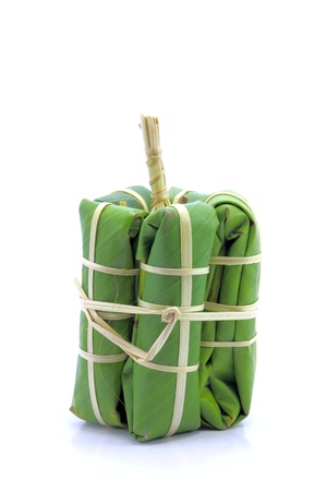a package of banana leaves. photo