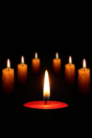 flame like: candlelight Stock Photo
