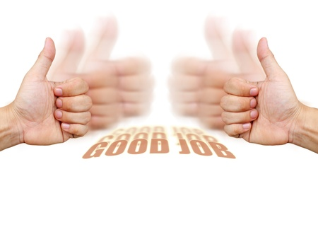 body work: thumbs up for good.