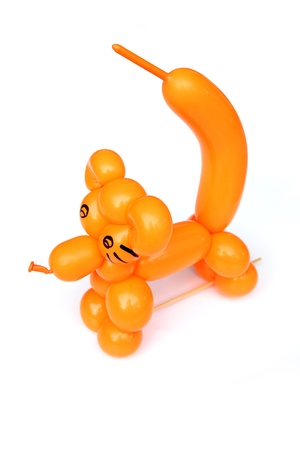 Simple balloon animal On white background