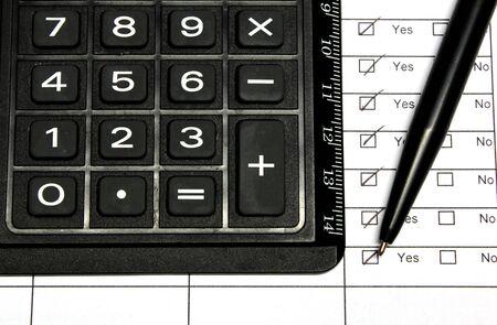 Calculator for business balance photo