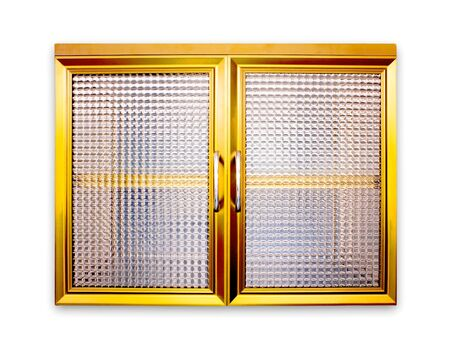 Aluminum window Gold color photo