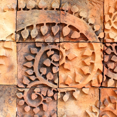 Patterns from Walls of earthenware Tile Stock Photo