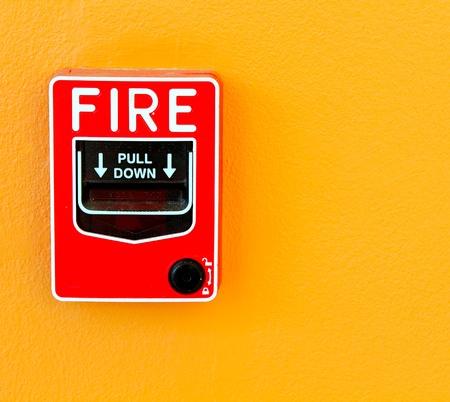 sprinkler alarm: fire break glass
