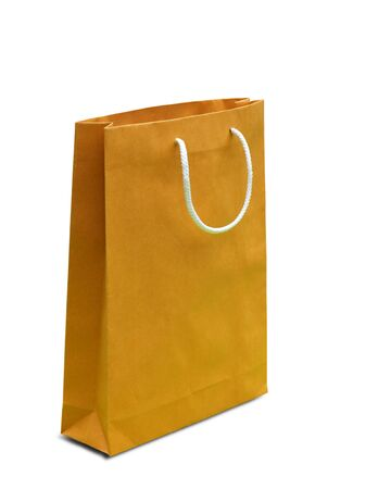 carryall: blank brown paper bag Stock Photo