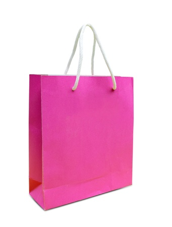 blank paper bag isolated on white background photo