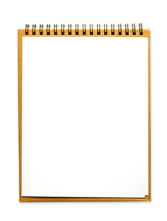 clipboard with white paper on white background photo