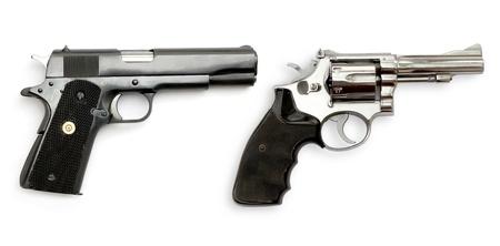 Dual Gun on white background photo