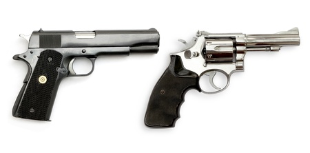 dual: Dual Gun on white background Stock Photo