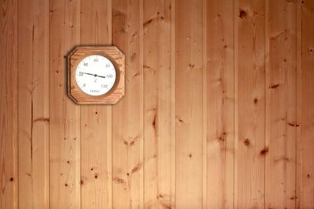 wooden wall of sauna room  photo