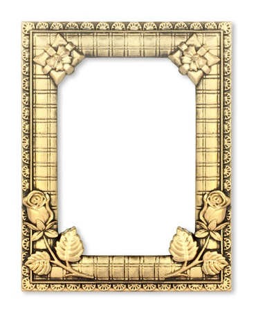 boundaries: The gold frame on the white background
