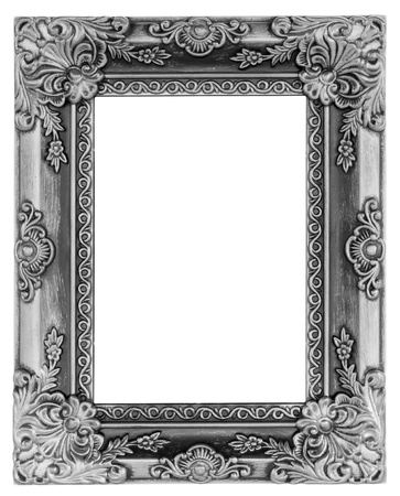 barocco: La cornice antica su sfondo bianco Archivio Fotografico