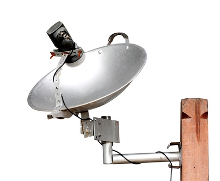 artificial satellite: local satellite dish made from pan