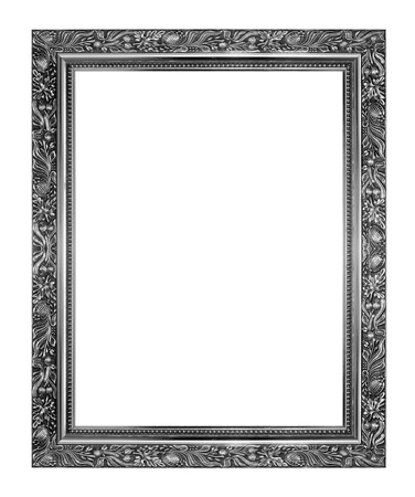 The antique frame on the white background photo