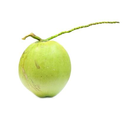 eagerly: Coconut fruit isolated on white background. Stock Photo