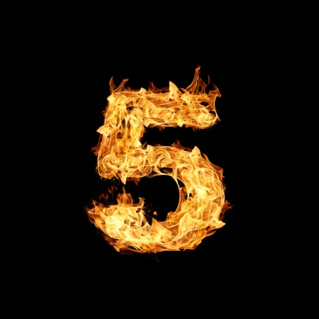 conflagration: Number one made from fire