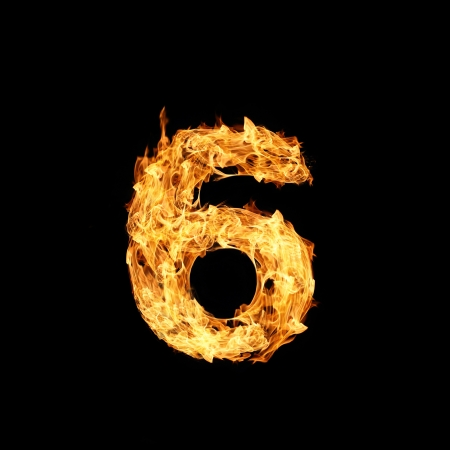 Number one made from fire Stock Photo - 17291391