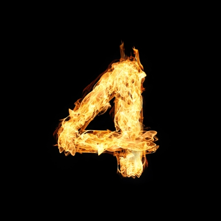 Number one made from fire Stock Photo - 17291386
