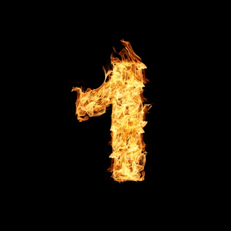 Number one made from fire