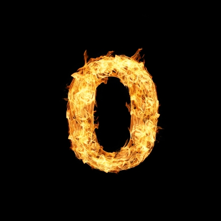 Number one made from fire Stock Photo - 17291390