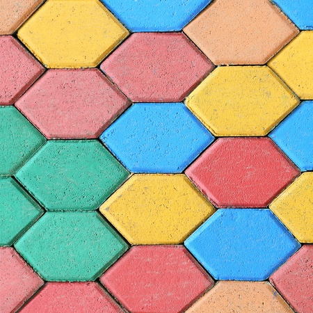 colorful bricks floor background photo