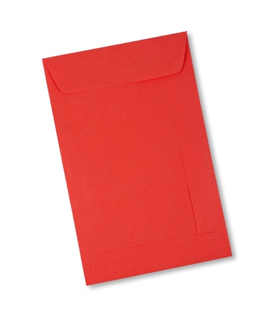 Red envelope on white background photo