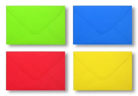 Envelope colorful on white backgeound photo
