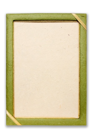 stationery border: Mulberry paper frame