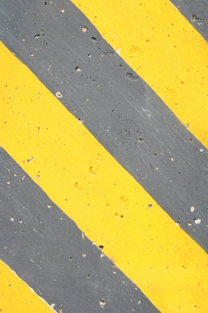 Yellow black warning about danger photo