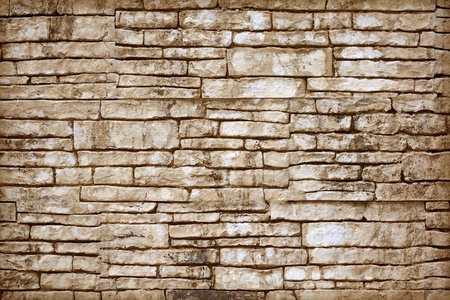 Old Brown Bricks Wall Pattern  photo