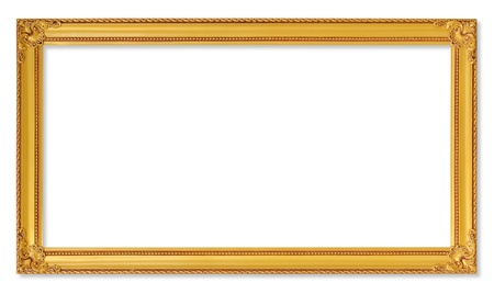The antique gold frame on the white background Stok Fotoğraf - 20944076