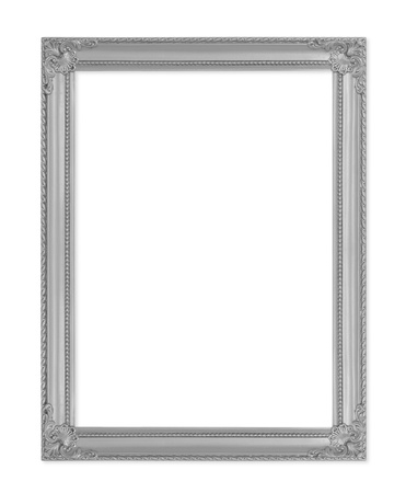 metal box: The antique gold frame on the white background