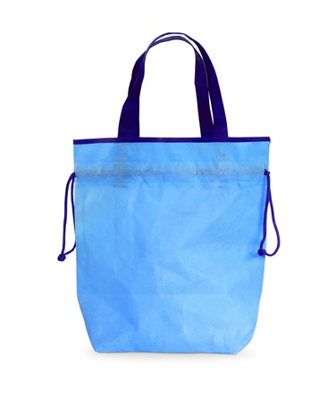 Blue bag on white isolated background