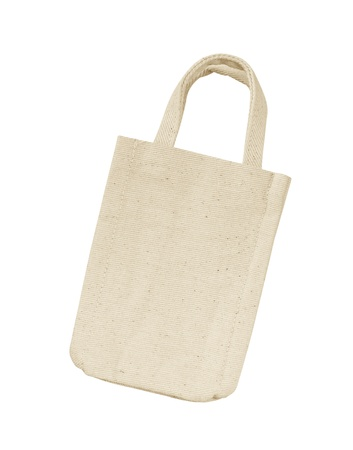 cotton bag on white isolated background. Stock Photo
