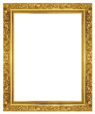 Le cadre d'or antique sur le fond blanc Banque d'images - 21035982