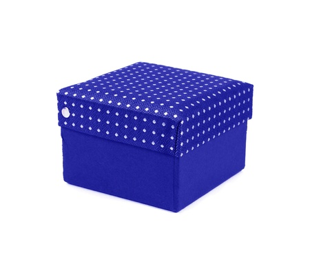 gift silk box isolated photo