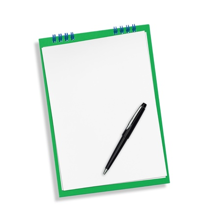 ruled: Notepad Stock Photo