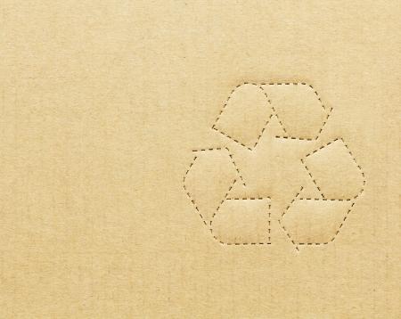 ダン ボール箱リサイクル マークと背景 写真素材