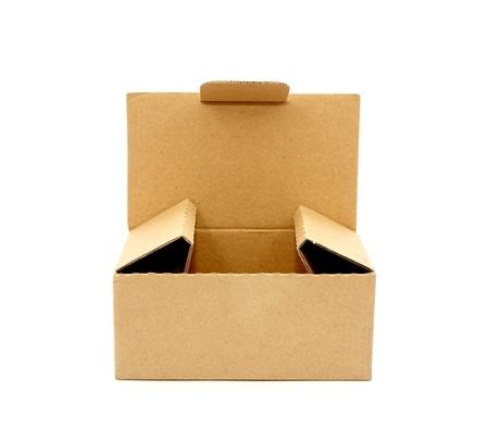 Karton auf wei? isoliert