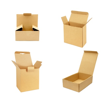 cardboard box isolated on white Stock Photo - 22063692