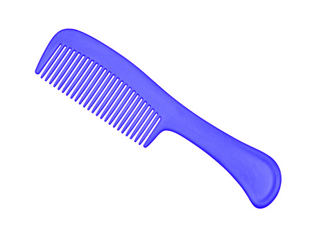 Blue comb isolated on white
