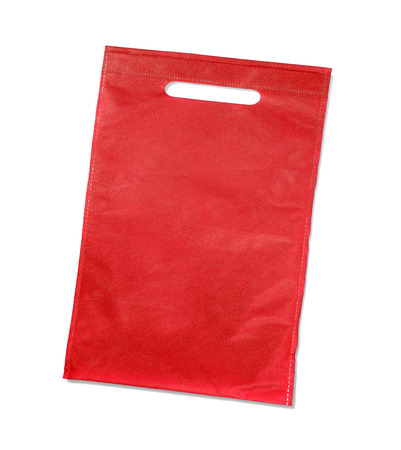 murk: red bag isolated on white background Stock Photo