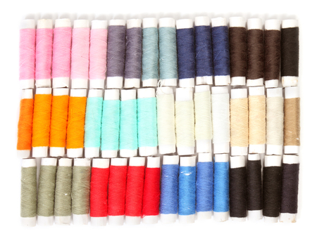 Colored thread for sewing photo
