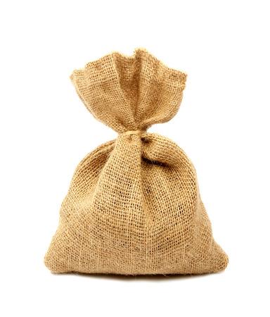 sack isolated on white background photo