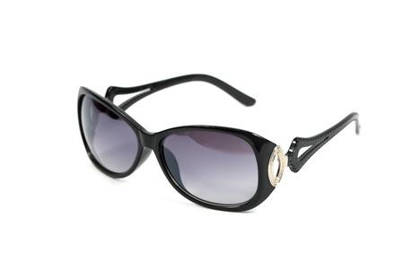 Black sunglasses isolated on a white background photo