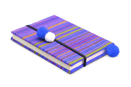 Colorful notebook on white background photo