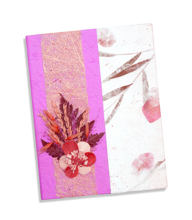 mulberry paper decorate for cover book photo