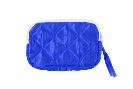 small blue bag on white background photo